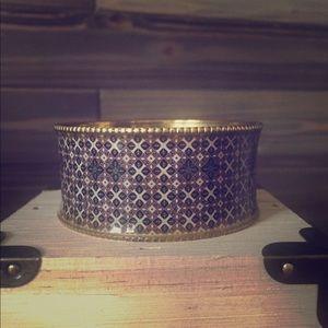 Brown Gold Art Deco Bangle Bracelet